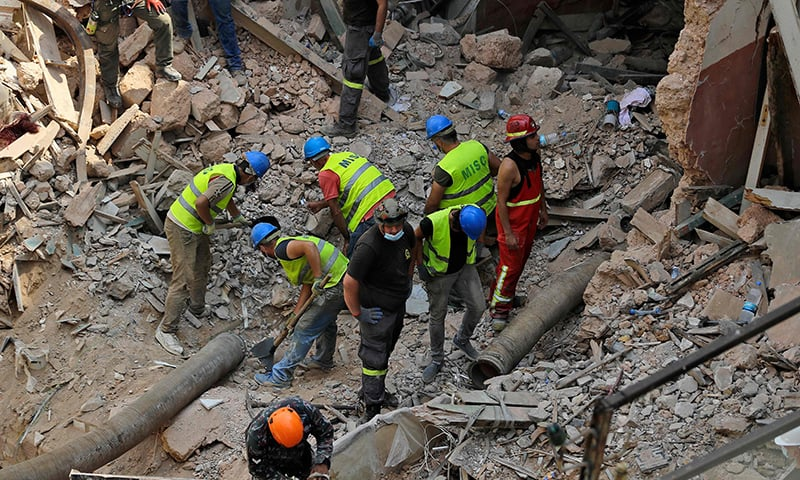 Rescuers continue search for survivor month after Beirut blast