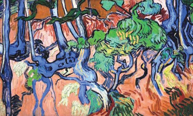 Vincent van Gogh's unfinished 'Tree Roots'