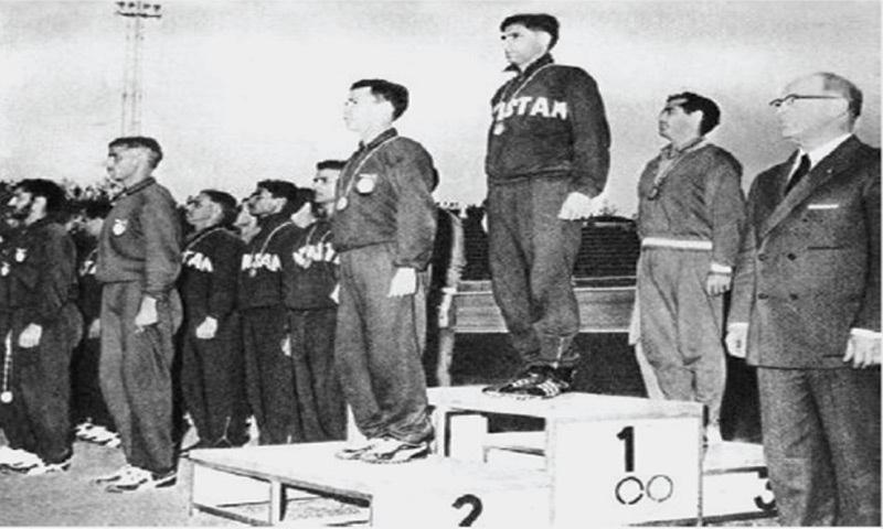 Skipper Abdul Hamid Hamidi at the top of the podium