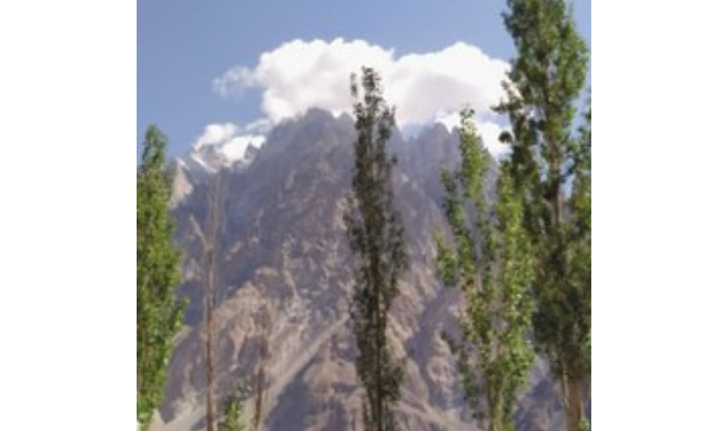 A walk by the Passu Cones in the Gojal Valley can calm even the most overactive mind. — Photo by writer
