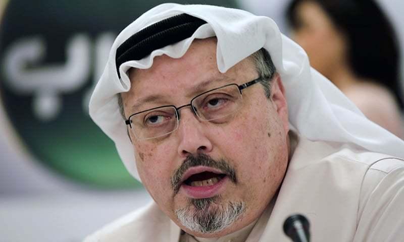 In this February 1, 2015 photo, Saudi journalist Jamal Khashoggi speaks during a press conference in Manama, Bahrain. — AP/File