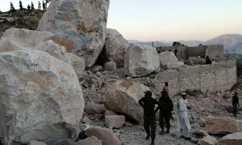مہمند: ماربل کی کان میں تودہ گرنے سے 11 افراد جاں بحق، 5 زخمی