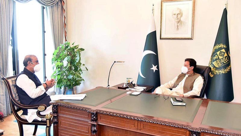 Dr Awan called on the prime minister following the postponement of the Senate and National Assembly sessions scheduled for Monday.
