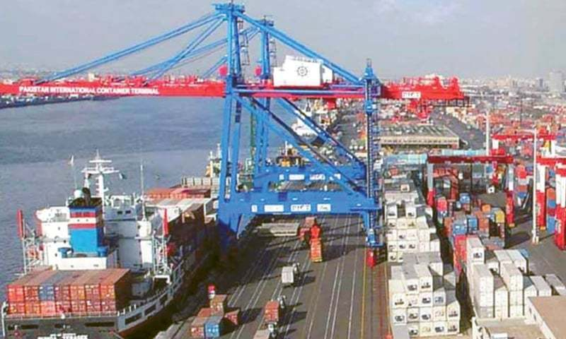 Country's exports dropped by 20pc to $1.58 billion in August 2020 which is startling for the economic managers who claimed the economy was recovering from slowdown induced by the pandemic. — Dawn/File