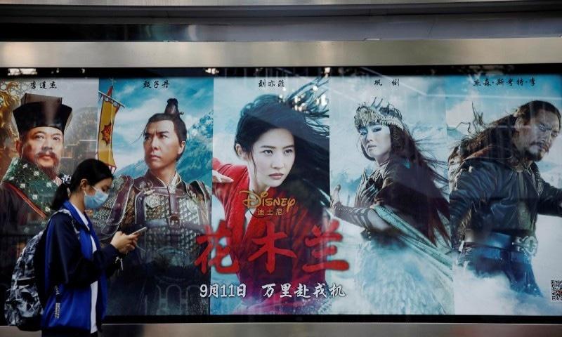 جنگجو لڑکی کی فلم 'مولان' پر چین میں تنازع