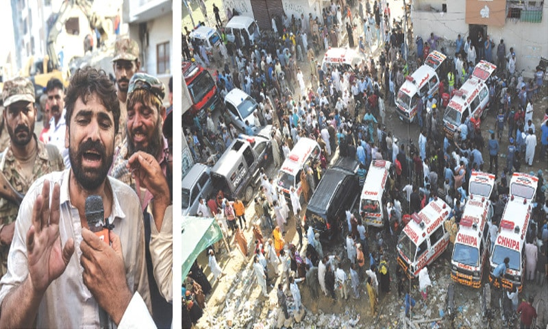 Teenager dies, seven injured in Korangi building collapse