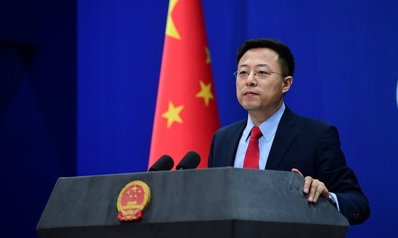 "China's foreign ministry hit back on Thursday, saying the US should ""immediately stop using all kinds of pretexts to restrict and suppress Chinese students in the US for no reason"".  — Lijian Zhao Twitter/File"
