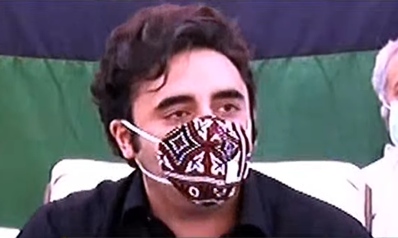 Flood-affected youths, especially women, danced on party songs and showered rose petals on Bilawal's vehicle. — DawnNewsTV