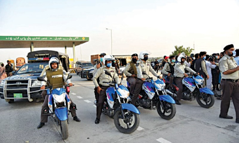 PHP personnel deployed on the Lahore-Sialkot motorway.