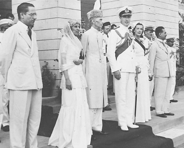 with unparalleled leadership qualities, Jinnah, seen here with Lord Mountbatten, outshone his contemporaries by miles.