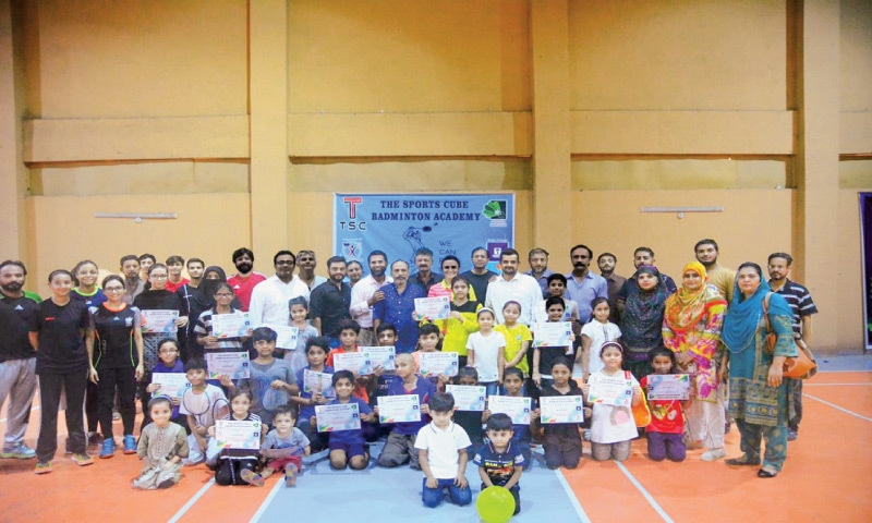 PARTICIPANTS seen at the badminton camp organised by Sports for Life.
