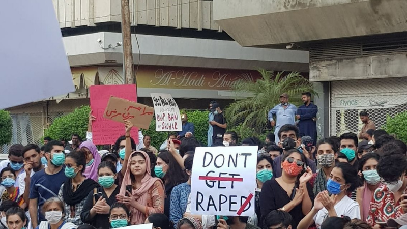 Protests were held in all major cities to demand justice for the rape victim. — Dawn/File