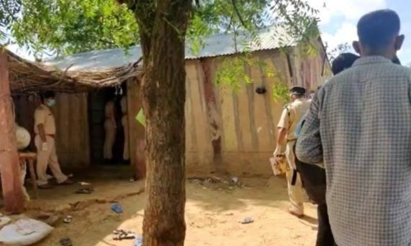 The bodies of 11 people, including children, from a single family were found in a field in Jodhpur district of India. — Photo courtesy BBC Urdu