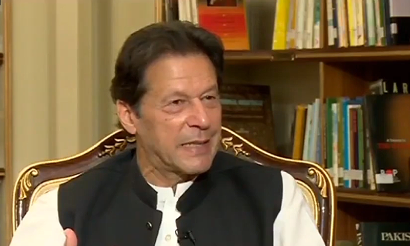 PM Imran Khan speaks during the interview. — 92 News HD screengrab