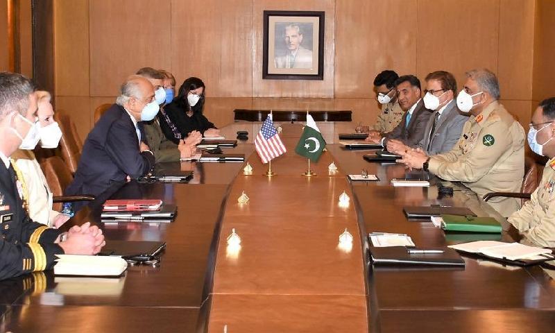 امریکی وفد کی آرمی چیف سے ملاقات، افغان امن عمل میں پاکستان کے کردار کو سراہا