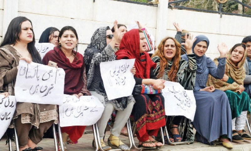 The transgender individuals said killing of Shakeel alias Gul Panra and injuring of Tariq alias Chahat had caused serious unrest among the entire community.— File photo