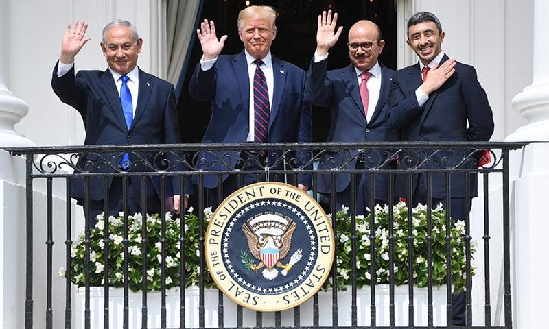 بحرین اور امارات کے اسرائیل سے تعلقات کیلئے معاہدے پر دستخط