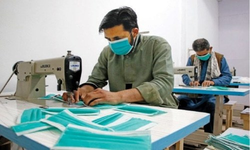 The production capacity of PPE items has increased considerably in Pakistan and the country is now exporting these goods despite being an importer initially. — Photo by Muhammad Asim/File