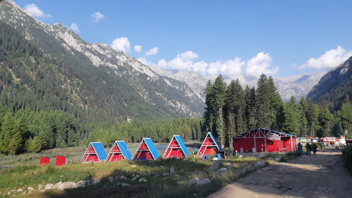 One of the nicer hotels in Kumrat valley.