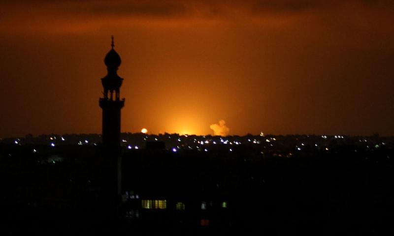 Israeli Strike Christmas 2020 Israeli jets bomb Gaza after rocket fire clouds peace deal signing