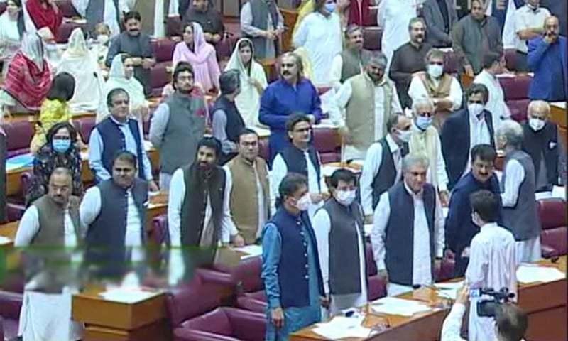 حکومت نے واضح اکثریت سے بل منظور کرالیے—فوٹو: ڈان نیوز