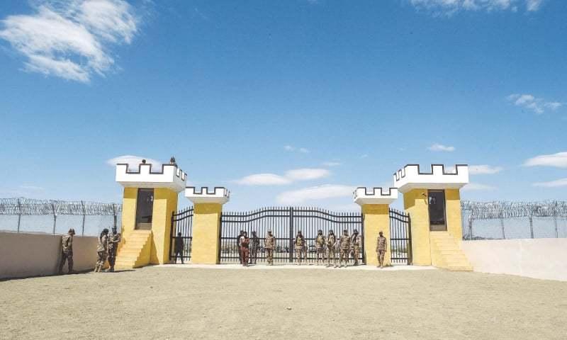 وزیر اعلیٰ بلوچستان جام کمال خان نے یادینی ٹرمینل کا افتتاح کیا۔ فوٹو:اے ایف پی