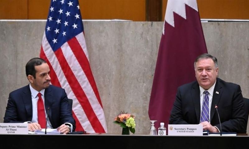 A number of officials, including US Secretary of State Mike Pompeo and Qatari Foreign Minister Sheikh Mohammed bin Abdulrahman al Thani, met in Washington earlier this week. — Reuters