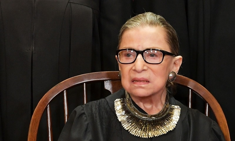 In this file photo taken on November 30, Justice Ruth Bader Ginsburg poses for the official photo at the Supreme Court in Washington. — AFP
