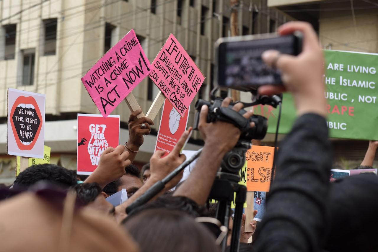 A protest at the Karachi Press Club | Tahir Jamal/White Star