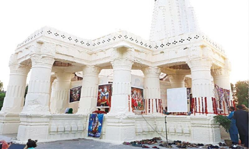 """We are ready to listen to the concerns of the Muslim brothers or organisations that have raised objections against the construction of the temple in H-9,"" said Krishan Sharma.  — Dawn/File"