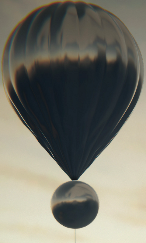 A concept for an aerial platform at Venus. Two connected balloons could take turns to inflate, allowing the balloon to control the altitude at which it floats. An instrument package would then hang from below the balloons. — Nasa