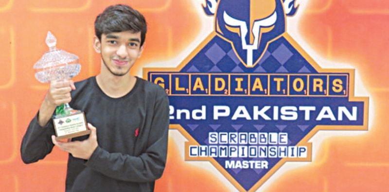 WONDER kid Imaad Ali seen with his masters trophy.
