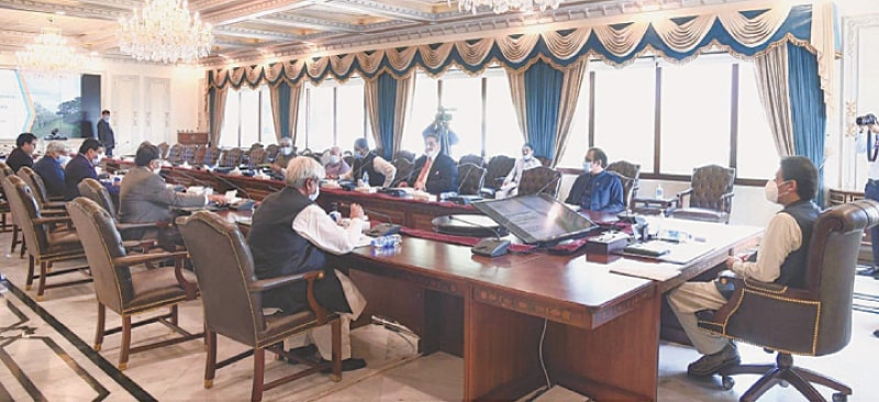 PRIME Minister Imran Khan chairing the meeting on agriculture reforms. — PPI