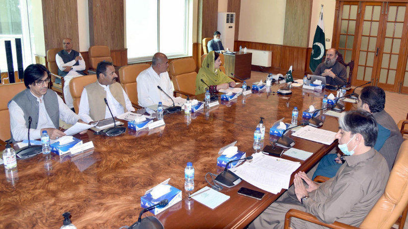 Chief Minister Jam Kamal Khan Alyani chairs a meeting of the Balochistan Technical and Vocational Training Authority (BTEVTA). — Photo courtesy Alyani Twitter