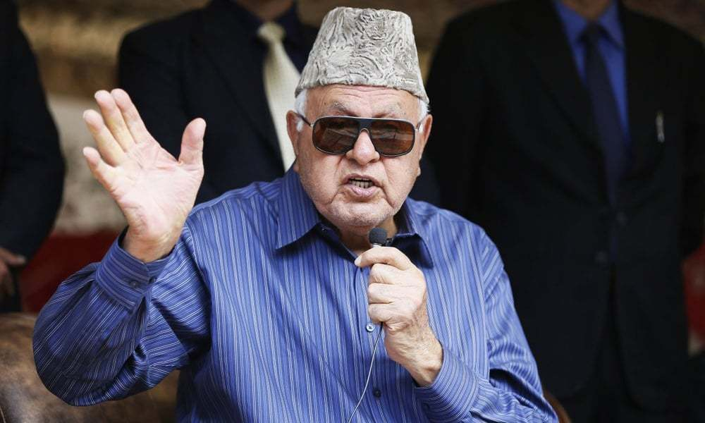 Angry Kashmiris would prefer Chinese rule, says Farooq Abdullah