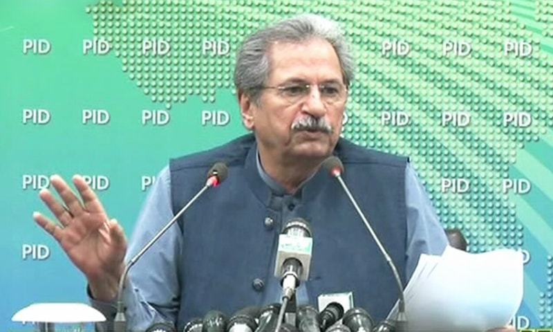 Education Minister Shafqat Mehmood said the medium of instruction will be finalised in the next week. — DawnNewsTV/File