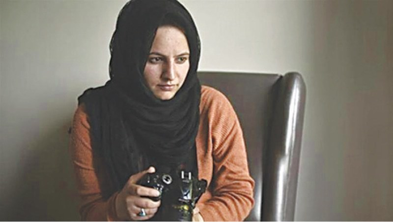 Kashmiri photojournalist Masrat Zahra has received the Peter Mackler prize for courageous and ethical journalism. — Dawn/File