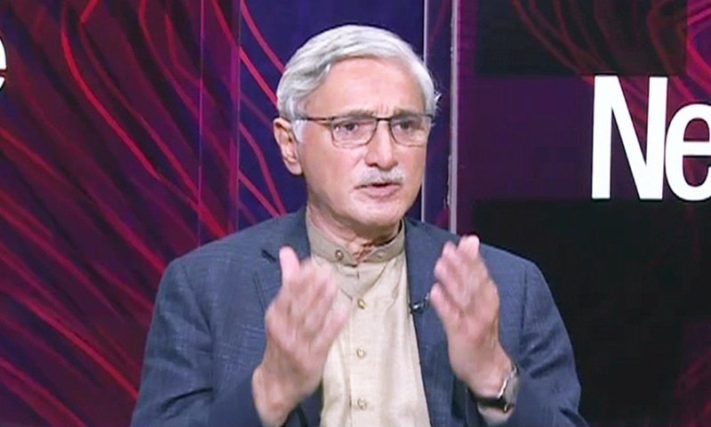 In this file photo, PTI leader Jahangir Tareen speaks on Dawn News TV programme News Eye, April 6. — DawnNewsTV/File