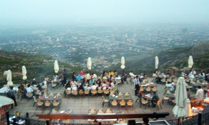 In May, a five-member Supreme Court bench headed by Chief Justice Gulzar Ahmed ordered that the Islamabad administration replant trees felled during the attempted expansion of Monal Restaurant. — Photo courtesy Zeresh John/File