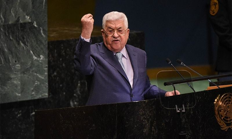 Mahmoud Abbas, President of Palestine delivers a speech at the United Nations during the UNGA on September 27, 2018 in New York City. — AFP/File