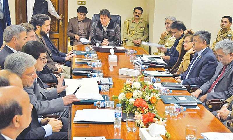 PM Imran Khan's cabinet didn't discuss crimes against journalists in its first 62 meetings, says information obtained by Freedom Network. — Dawn/File