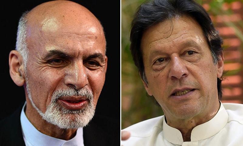 Prime Minister Imran Khan held a telephone conversation with Afghan President Ashraf Ghani on Friday. — Dawn/File