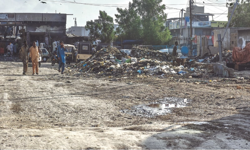 INFRASTRUCTURE around the harbour is in a poor state as seen on Saturday.—Fahim Siddiqi/White Star