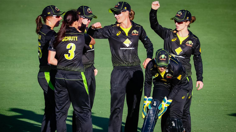 Australia's players celebrate their victory over New Zealand. — AFP