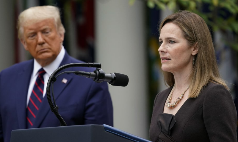 Trump nominates conservative judge Amy Coney Barrett for US Supreme Court