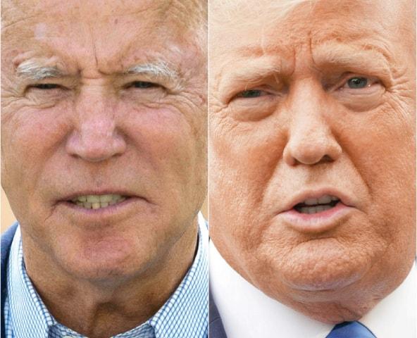 Joe Biden(left) and Donald Trump