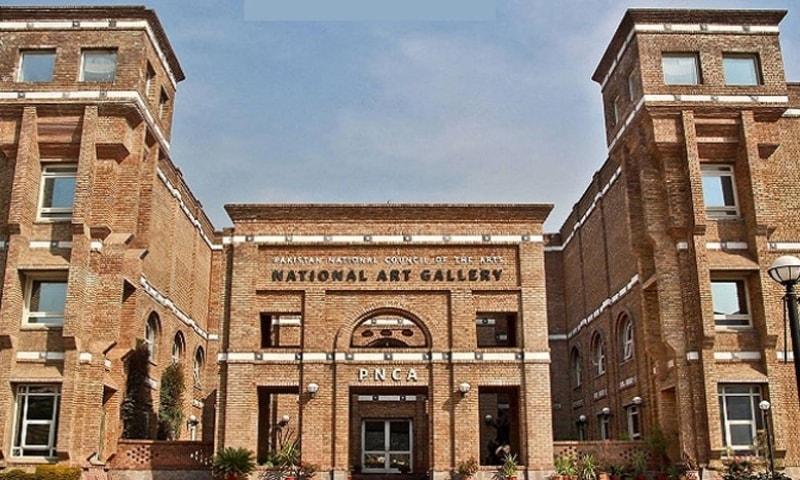Anwar Jamal Shemza's paintings were kept at the National Art Gallery. — Photo courtesy Radio Pakistan