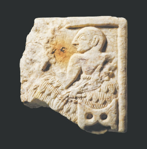 London: A handout picture released by the British Museum shows a Sumerian plaque, dating to around 2400BC, and belonging to the Early Dynastic III period of southern Iraq. It was smuggled out of Iraq and then seized from an online auction site by British authorities.—AFP