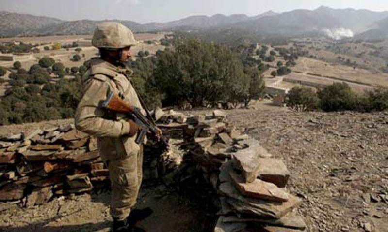 An army officer was martyred during an exchange of fire between security forces and terrorists in the Shakai area of South Waziristan tribal district on Sunday night. — File photo
