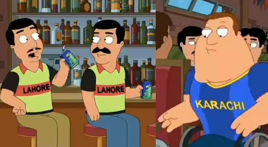Karachi Kings and Lahore Qalandars' fans have made it to Family Guy